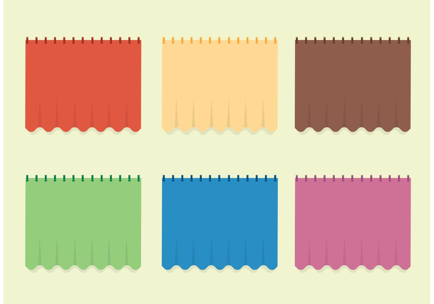 Free Vector Curtain Set Download Free Vector Art Stock