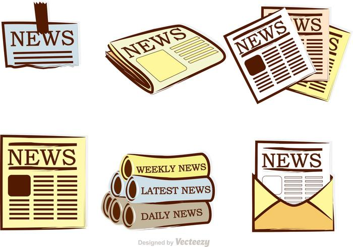 Newspaper Vector Icons