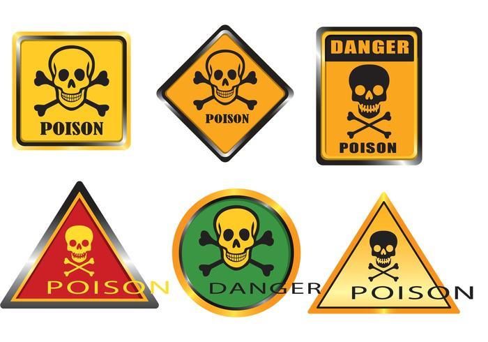Poison Sign Vectors
