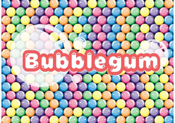 Colorful Bubblegum Vector Background