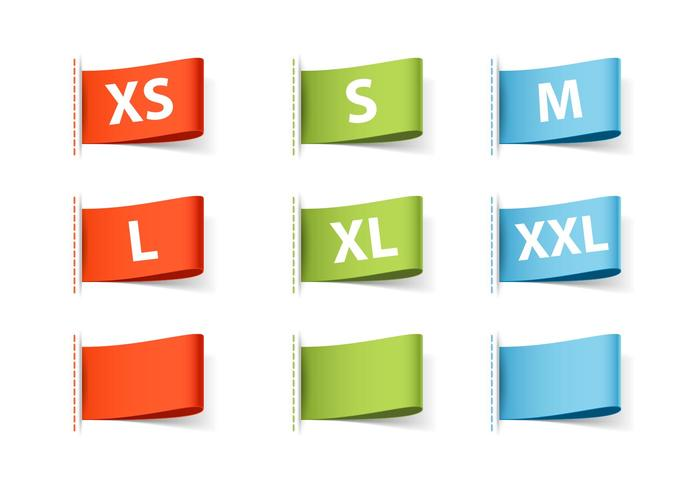 Free Vector Clothing Size Labels