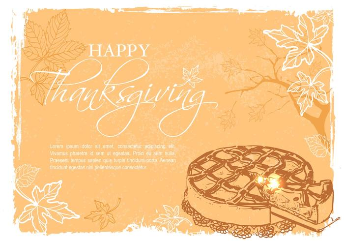 Ilustraciones Vectoriales de Happy Thanksgiving