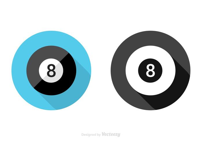 Free Flat Magic 8 Ball Vector Icon