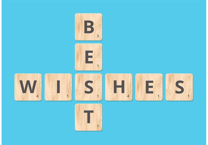 Free Best Wishes On Scrabble Blocks Vector