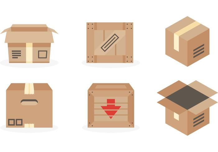 Crate Package Vector Boxes
