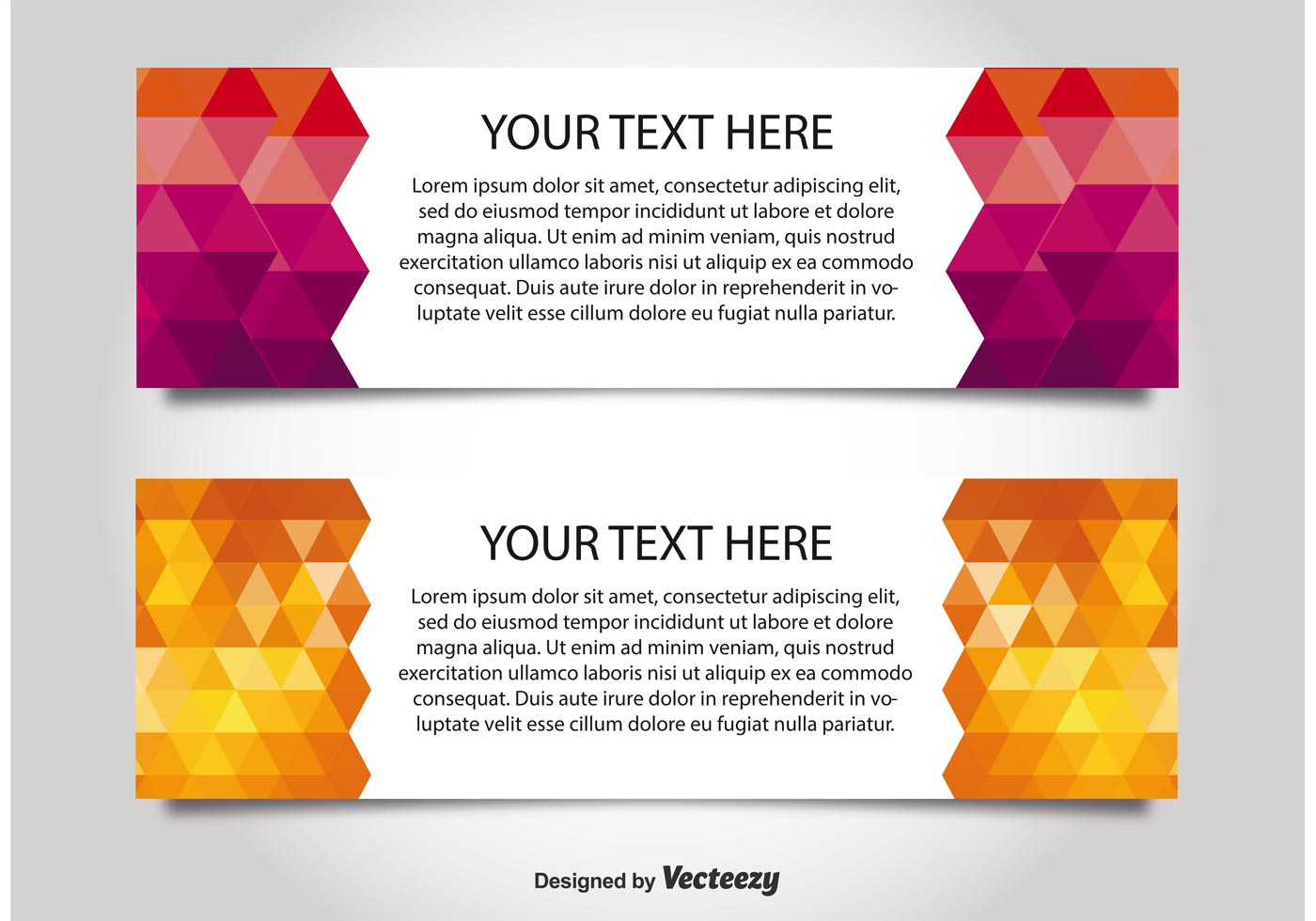modern style web banner templates download free vector art stock