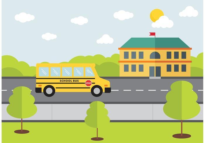 Autobús Escolar Vector Diseño Gratis
