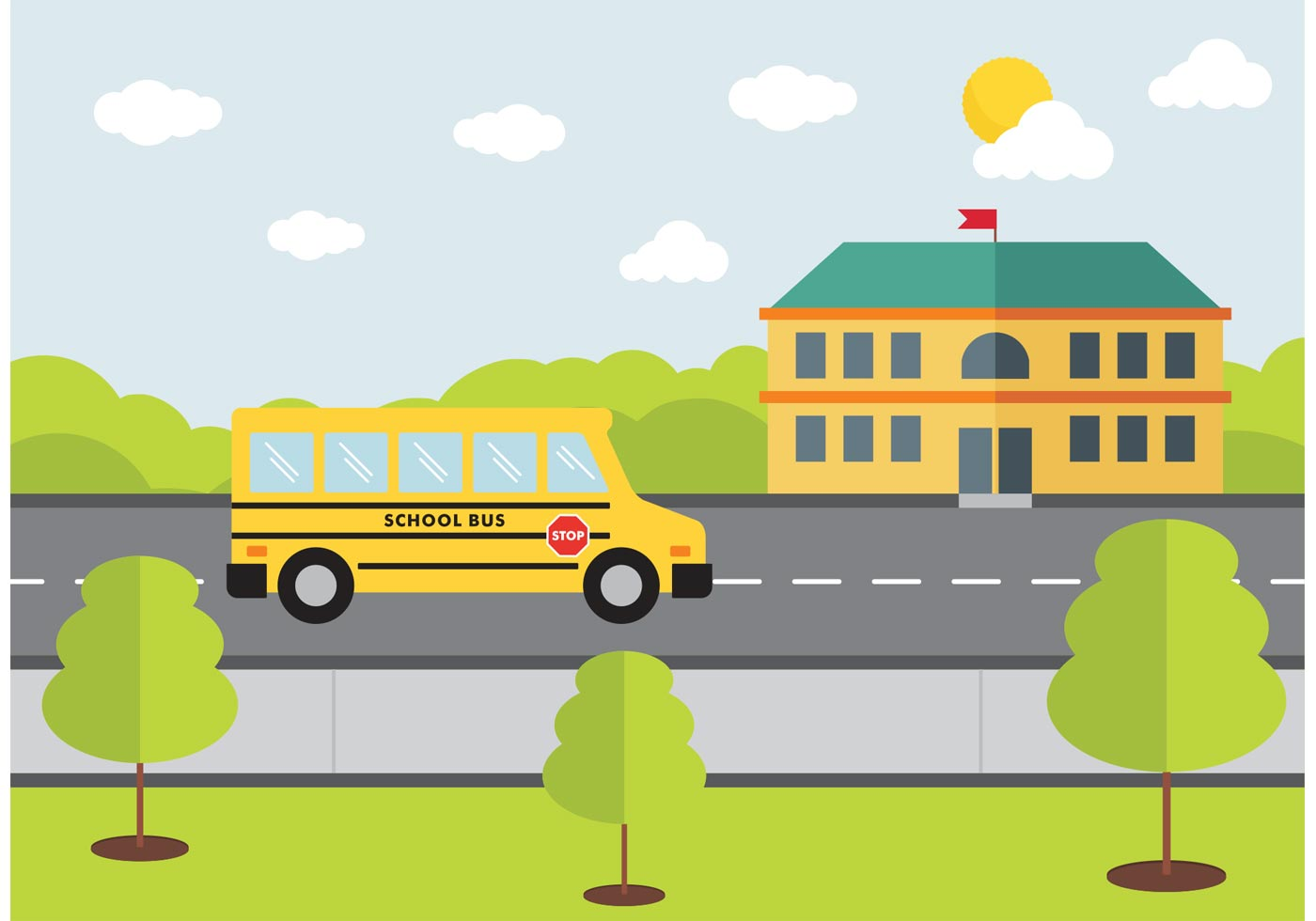 school bus design vector download free vector art stock