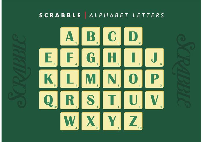 Scrabble Alphabet Letters Vector