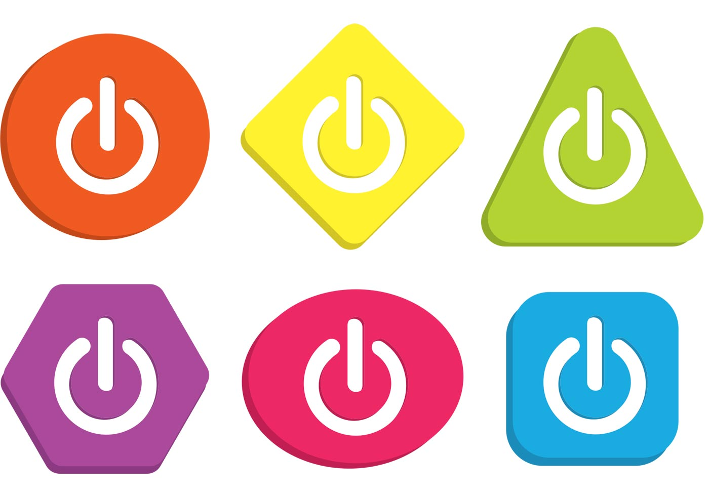 Colorful On Off Button Vectors Download Free Vector Art Stock And Graphics Images