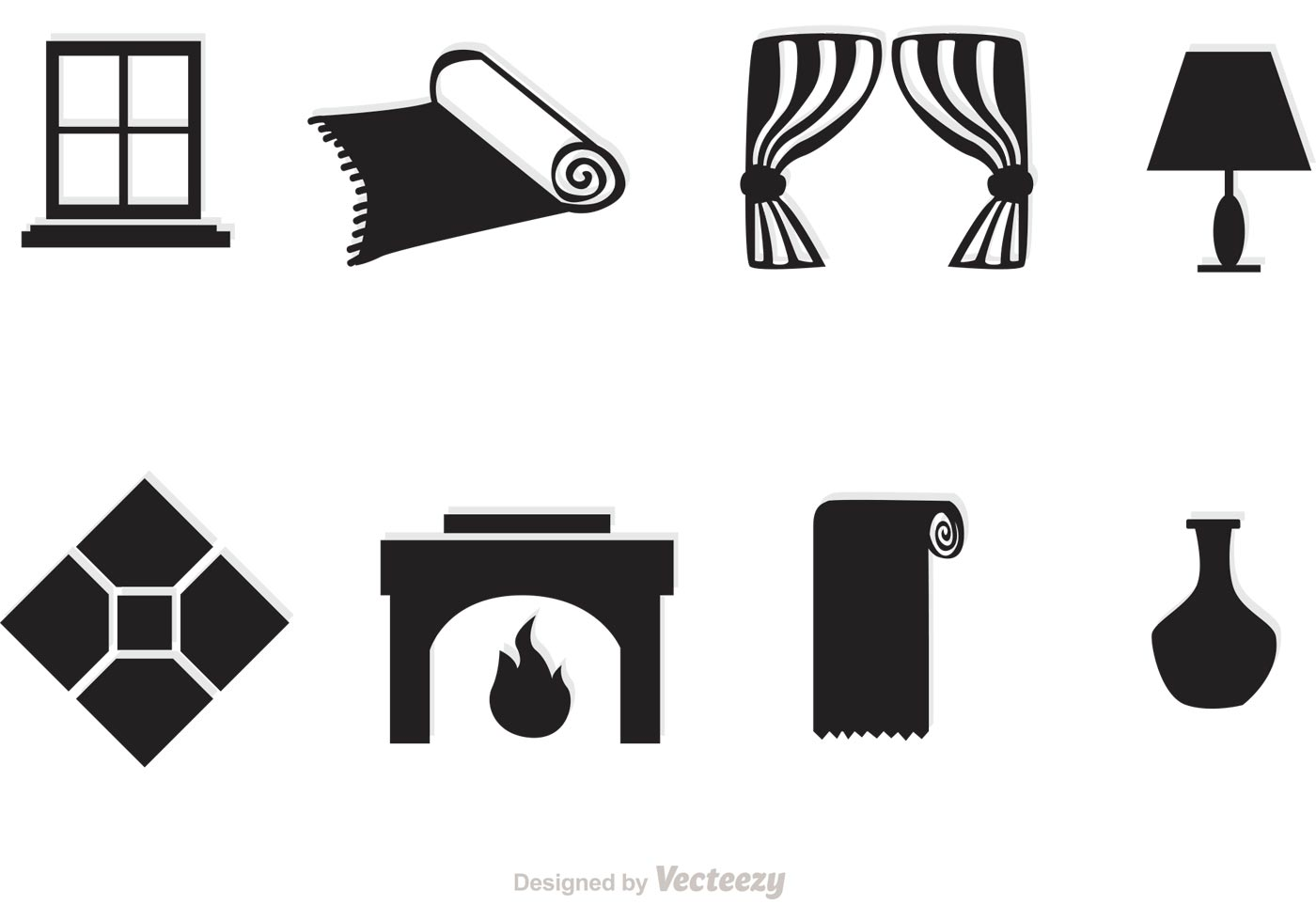 Black Home Interior Vector Icons - Download Free Vector ...