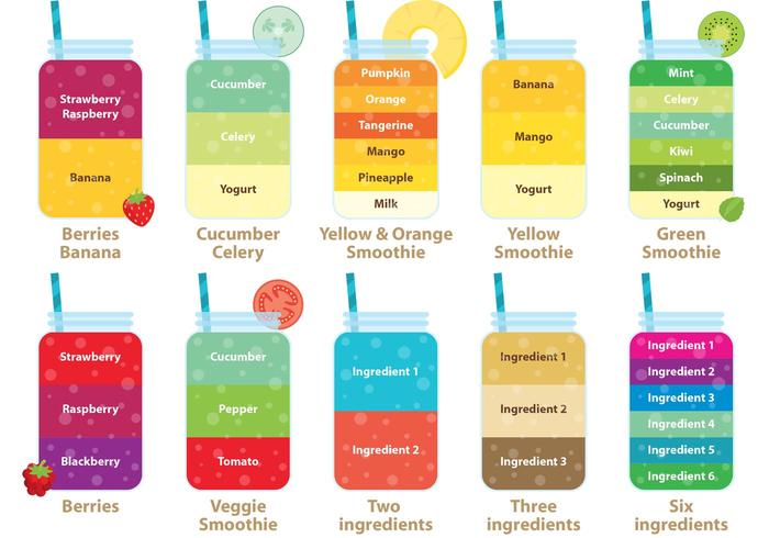 Smoothie Vector Recipes - Download Free Vector Art, Stock ...