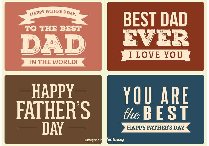 Father's Day Labels vector
