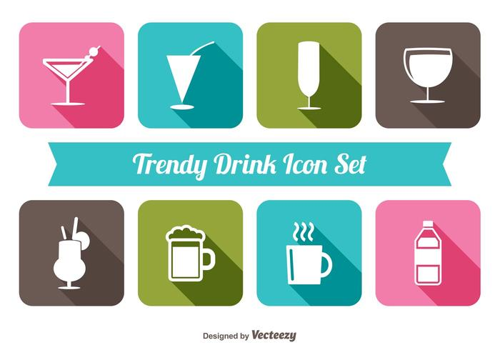 Trendy Drink Icon Set