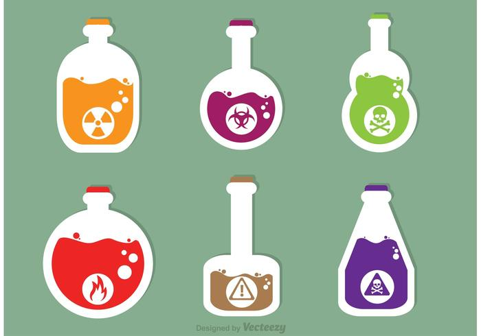 Poison Vector Icons
