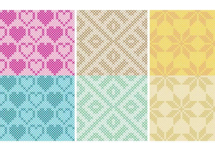 Cross Stitch Pattern Vectors