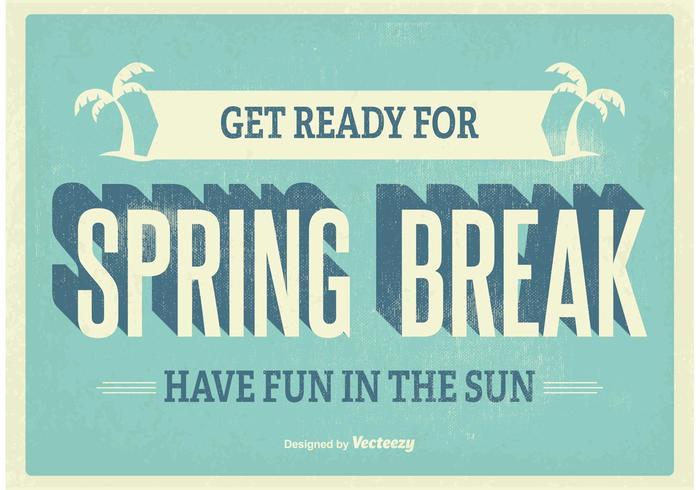 Affiche Vintage Spring Break