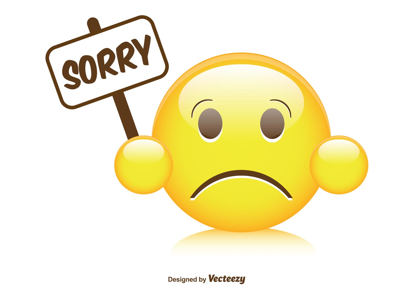 Cute Sorry Smiley Illustration Download Free Vector Art Stock