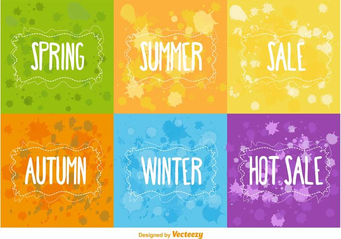 Seasonal and Hot Sale Vector Backgrounds