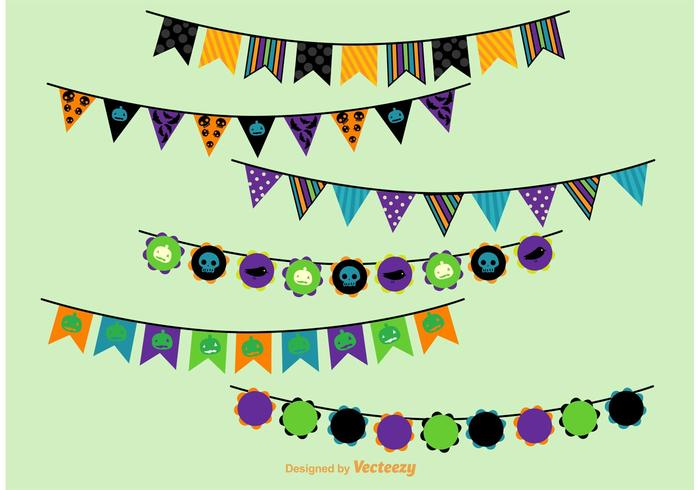 Halloween Party Vector Buntings