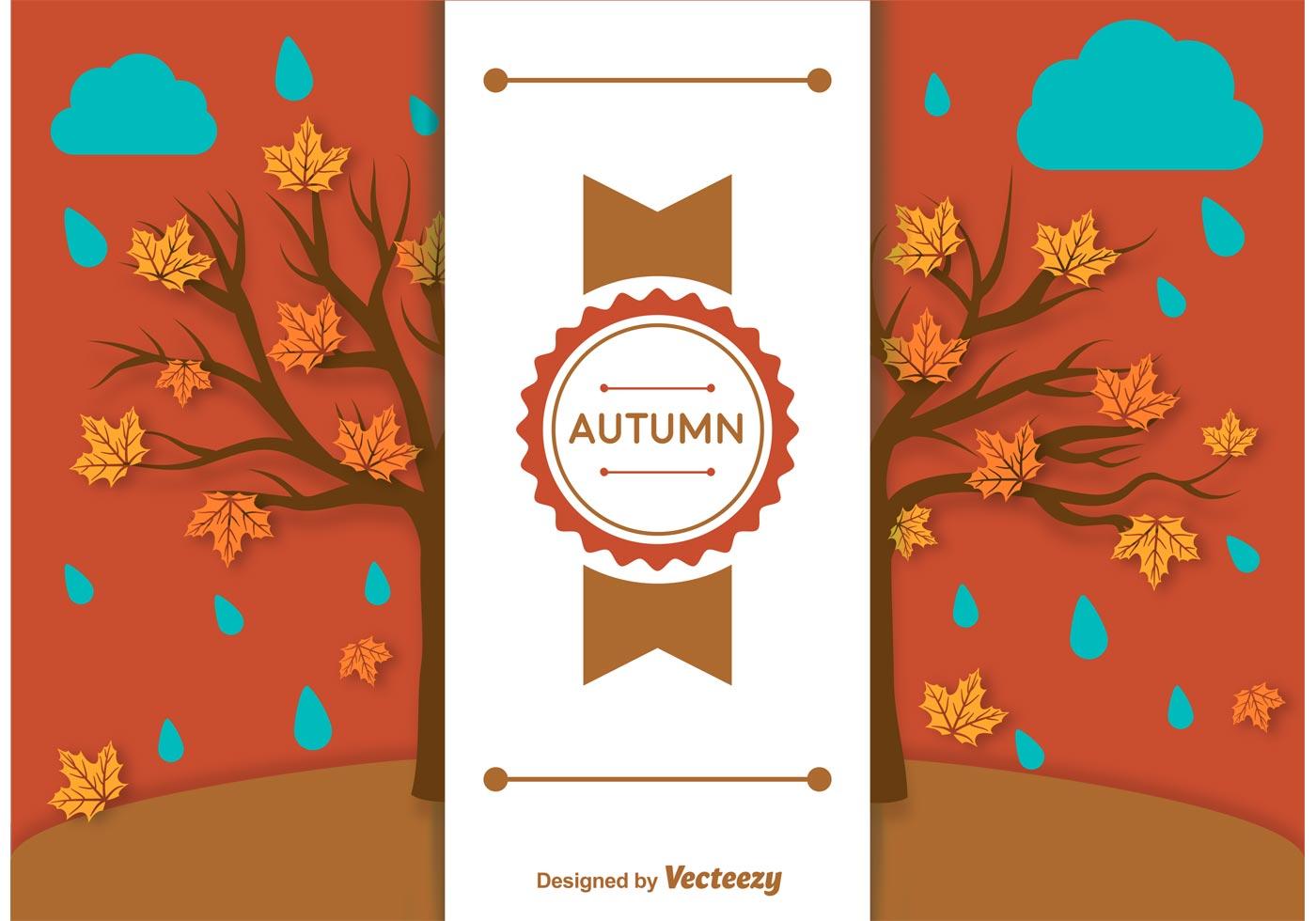 Autumn Background Label Template - Download Free Vectors ...