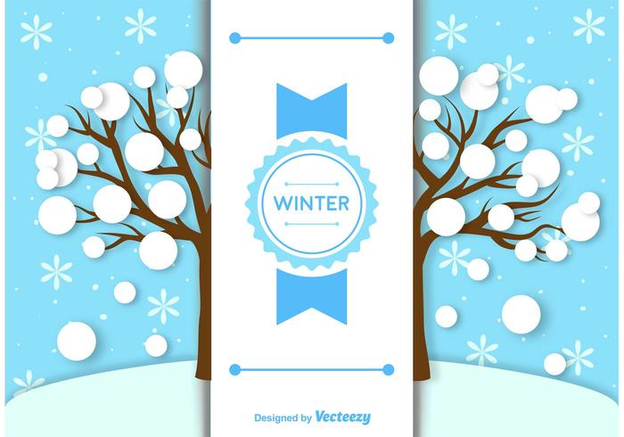 Winter Background Label Template