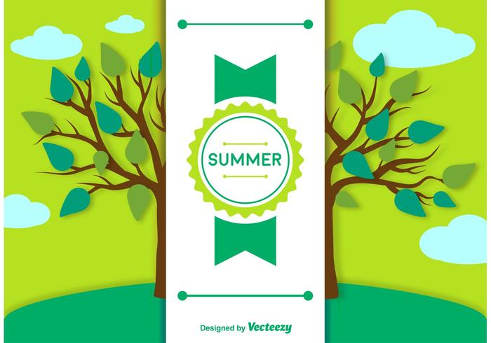 Summer Background and Label Template