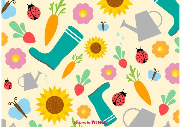Springtime and Summertime Vector Background