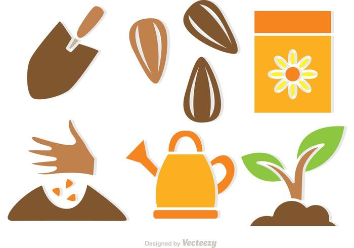 Plant Growing Vector Icons