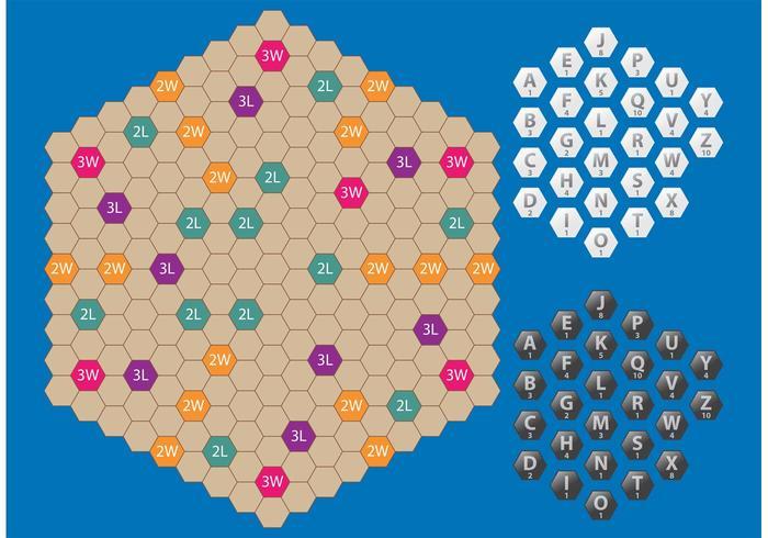 Hexagon Scrabble Vector