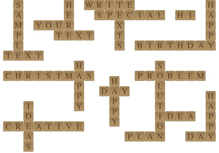 Scrabble Message Vectors