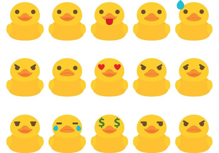 Rubber Duck Emoticon Vectors
