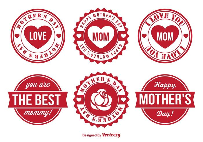 Mother's Day Vector Badge Set