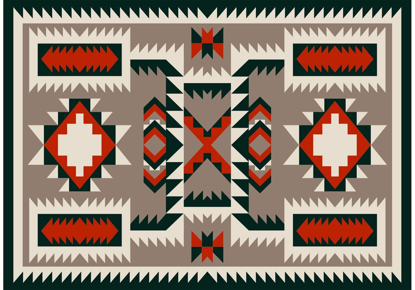 Navajo Pattern Carpet Vector Design Download Free