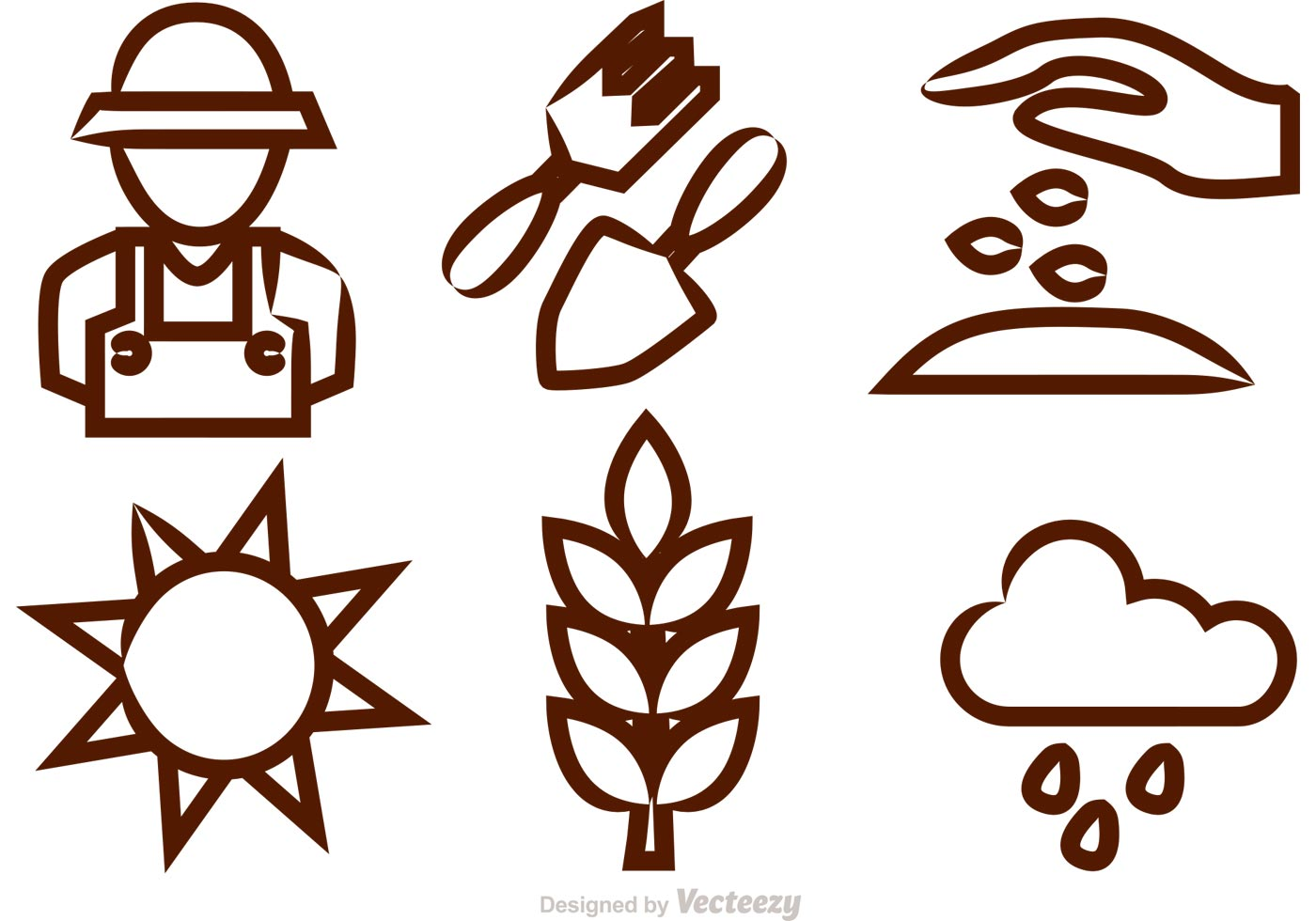 gardening vector icons download free vector art stock