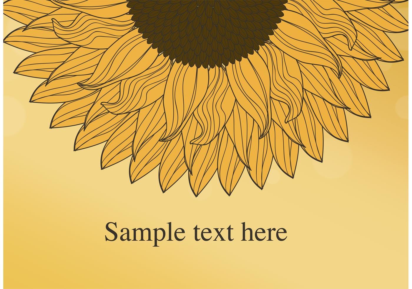 Sunflower Vector Background - Download Free Vectors ...