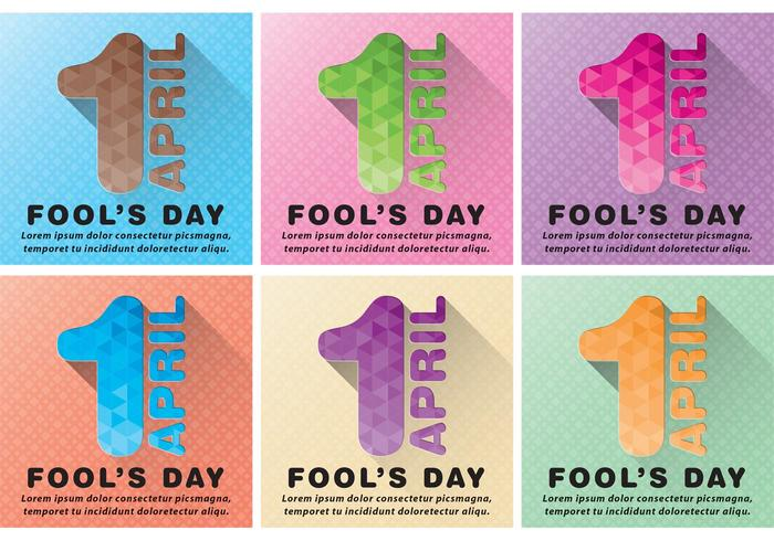 April Fools Vector Backgrounds
