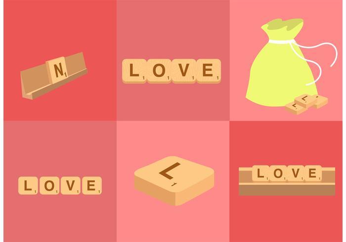 Scrabble Letter Vectors