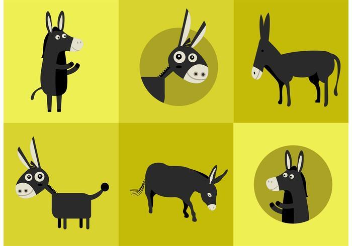 Donkey Vector Characters