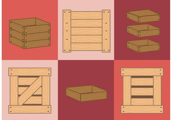 Wooden Crate Vectors