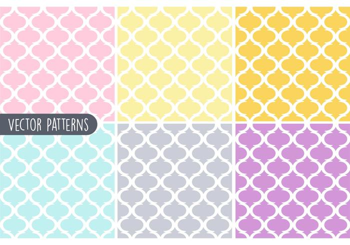 Pastel Geometrische Vector Patroon Set