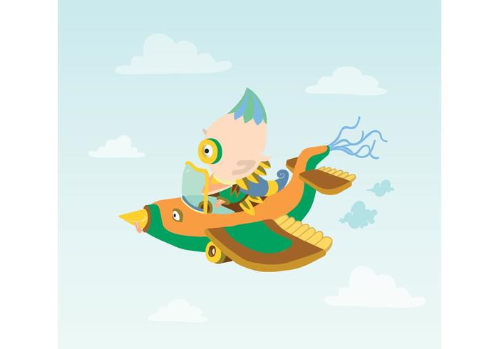 Airplane Vector Character