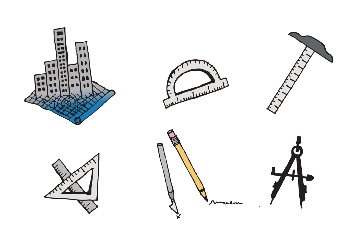 Free Architecture Tools Vector Series Download Free