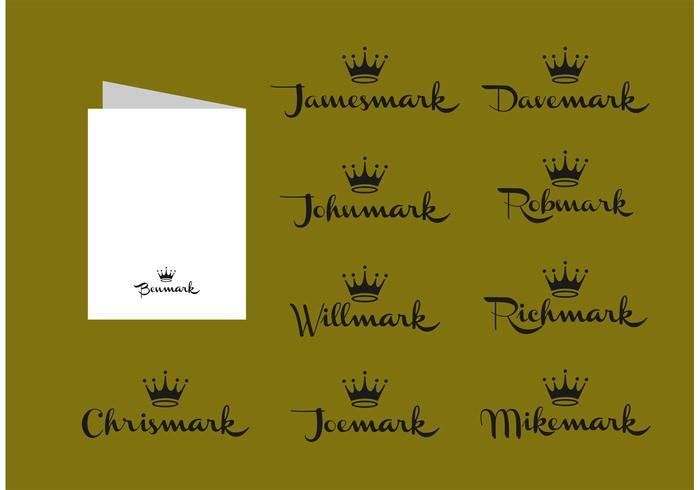 Nomes livres do cartão de Hallmark do vetor masculino