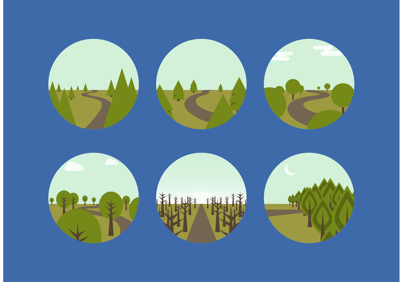 free vector woodland paths download free vector art