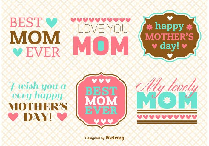 Mother's Day Message Vectors