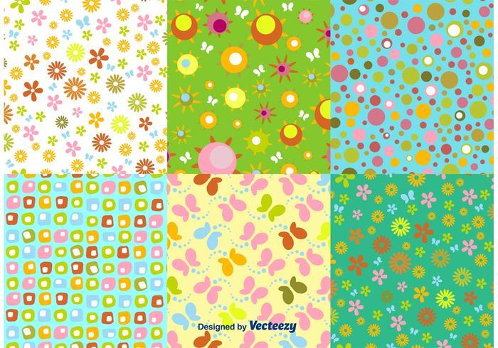 Vetores florais de padrão de primavera