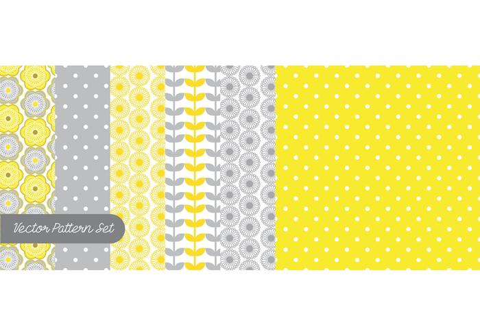 Yellow & Gray Pattern Vector Set