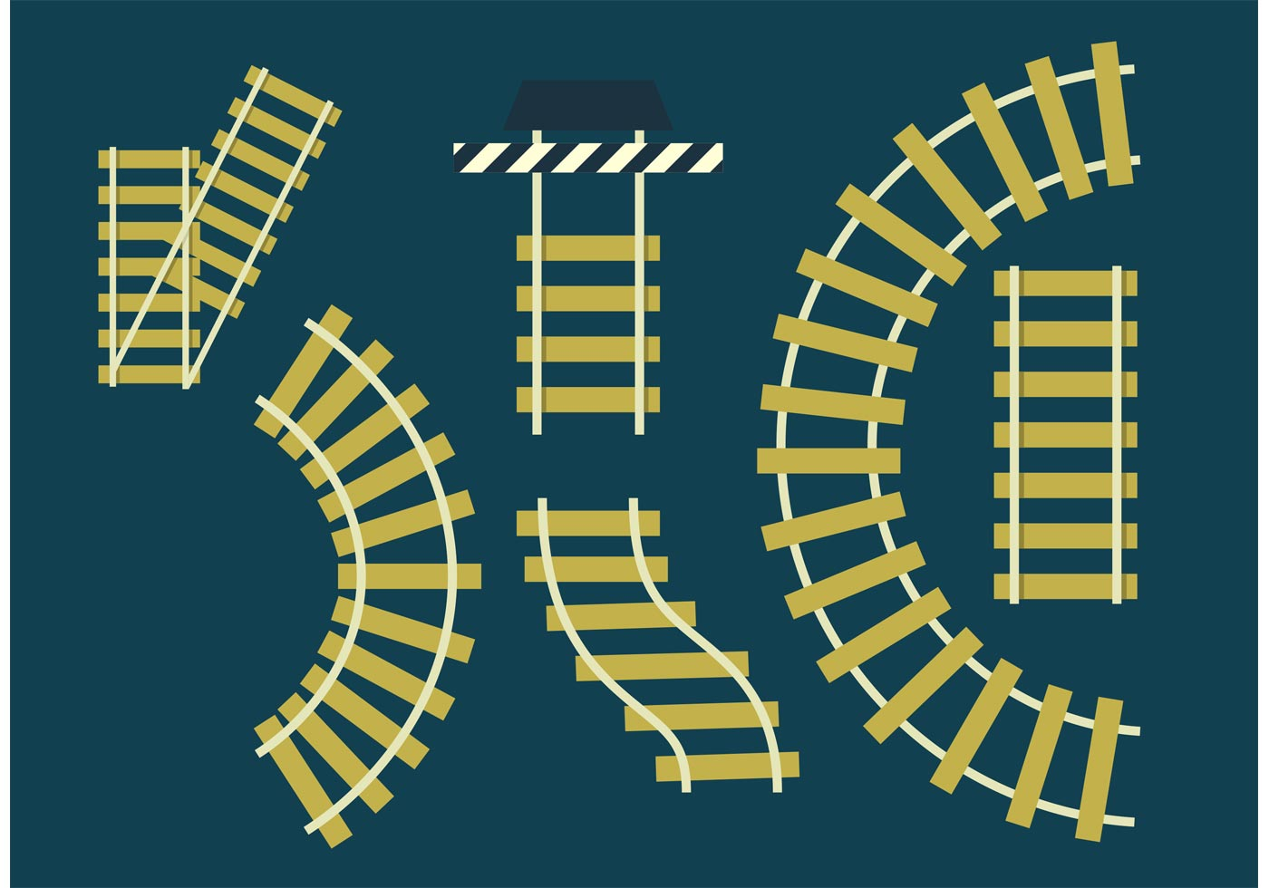 Railroad tracks vector