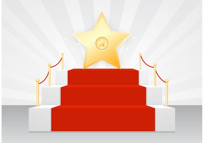 Free Star On Red Carpet Vector